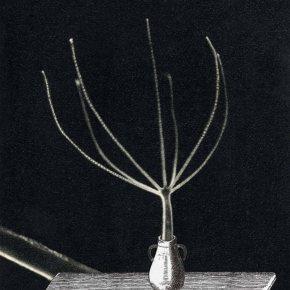 collage sur papier, Thaddée, 24 x 18 cm