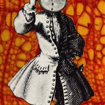 Thaddée, collage sur papier, collection particulière, 16,8 x 6,8 cm, 2011