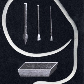collage sur papier, Thaddée, 14 x 10,3 cm, 2013