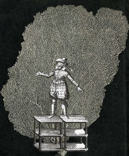 Thaddée, collage sur papier, 17,8 x 14,8 cm, collection particulière