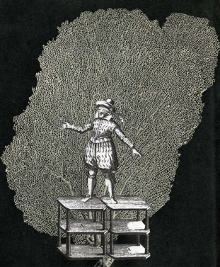 Thaddée, collage sur papier, 17,8 x 14,8 cm