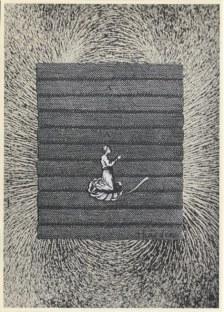 La prière, Thaddée, collage sur papier, 15 x 10,5 cm, avril 2015