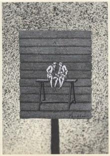 L'amitié, Thaddée, collage sur papier, 15 x 10,5 cm, avril 2015