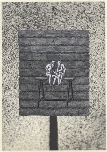 L'amitié, Thaddée, collage sur papier, 15 x 10,5 cm, avril 2015, collection particulière