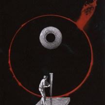 Thaddée, collage sur papier, collection particulière