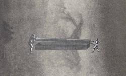 Thaddée, collage sur papier, 12,1 x 19,8 cm, avril 2015