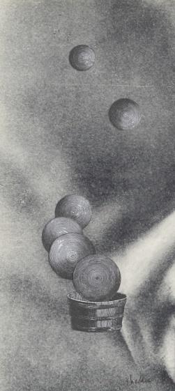 Détail de la vie d'André Malraux, Thaddée, collage sur papier, 25,2 x 11,6 cm, 29 avril 2015