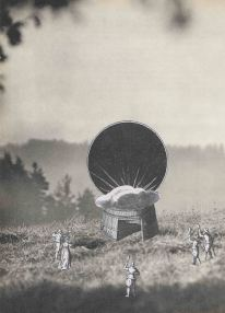 Thaddée, collage sur papier, sans titre, 28,3 x 20,3 cm, 2016