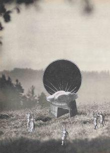 Solstice, Thaddée, collage sur papier, sans titre, 28,3 x 20,3 cm, 2016, collection particulière
