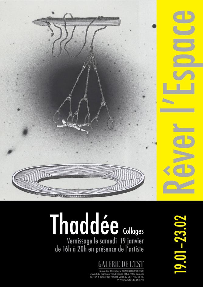 L'acrobate, Thaddée, collage sur papier, 19,6 x 15,3 cm, 2018